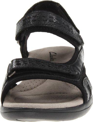 de Morse Leather la Clarks Clarks sandalia Black Información qzw4wf6x8