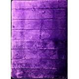Purple Incredibly Soft And Absorbent Memory Foam Bath Mat 17 By 24 Inch