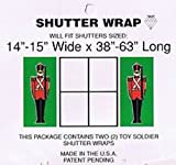 Nutcrackers Christmas Decorations Toy Soldiers Christmas Wrapping Paper Sale Shutters Exterior Vinyl Wrap
