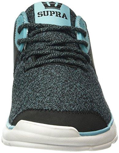 Damen Noiz Schwarz White Sneakers Aqua Supra 084 Black g46dqx6p
