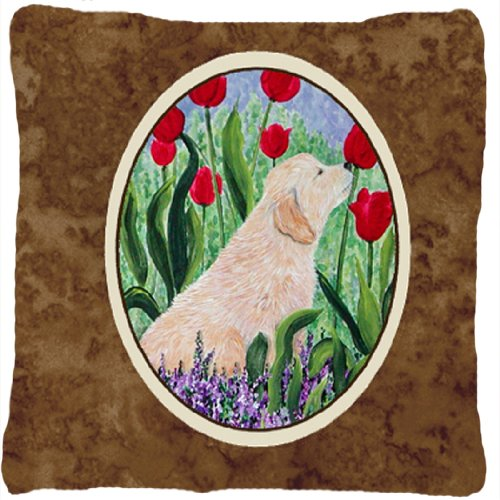 Caroline's Treasures SS8610PW1414 Golden Retriever Decora...