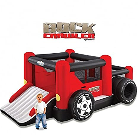 Blast Zone Rock Crawler Pelota Hinchable de Hamaca con Pit y Doble Slide: Amazon.es: Juguetes y juegos
