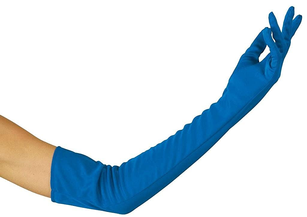 1 Paire de Gants Longs Bleus