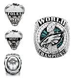 GF-sports store New 2017-2018 Philadelphia Eagles Replica Championship Ring Gift Fashion Gorgeous Collectible Jewelry (box, 11)