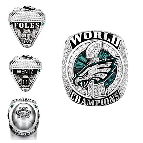 - GF-sports store New 2017-2018 Philadelphia Eagles Replica Championship Ring for Gift Fashion Gorgeous Collectible Jewelry (Without Box, 12)