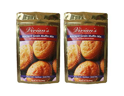 Ancient Grain Muffin & Bread Mix, Gluten Free, Dairy Free, Soy Free by Vivian's Live Again- 2 Pk (Gluten Bread Free Grain Whole)
