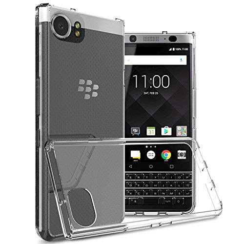 Blackberry Curve Armor Case - Blackberry KEYone Case, [Invisible Armor] Xtreme SLIM, CLEAR, SOFT, Lightweight, Shock Absorbing TPU Rubber Bumper Case/ Back Cover