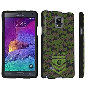 DuroCase ? Samsung Galaxy Note 4 Hard Case Black - (Army Camo Monogram G)
