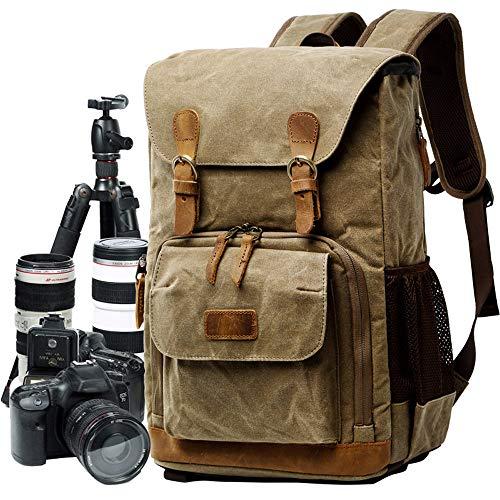 (Hot Premium Bag Vintage Photography Bag Backpack Bag Waterproof Bag Photography Canvas Bag with Pocket)