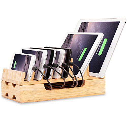 Iphones Ipads Laptops Bamboo Charging Station Rack Docking