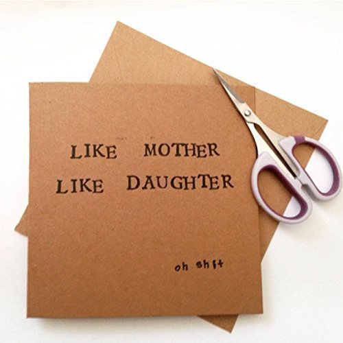 Handmade Birthday Card Mum Like Mother Daughter Funny Cards For 135cm Square Amazoncouk
