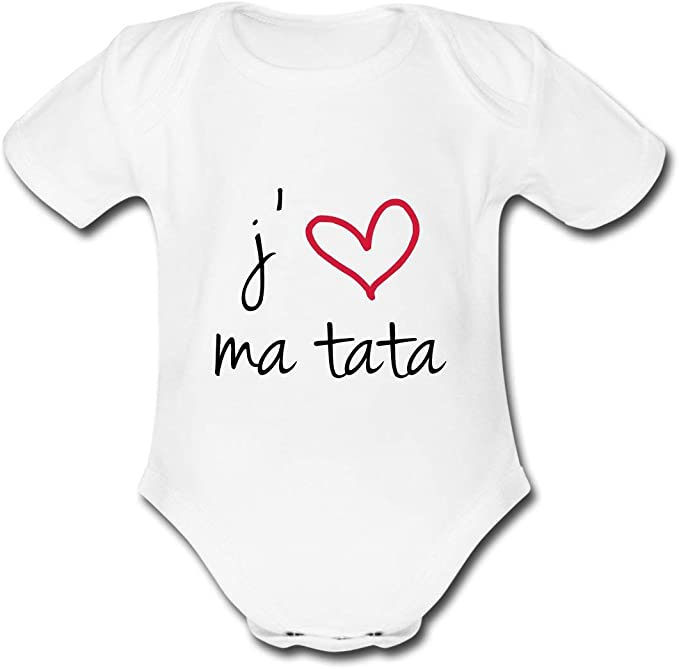 Spreadshirt Jaime Ma Tata Body B/éb/é Bio Manches Courtes