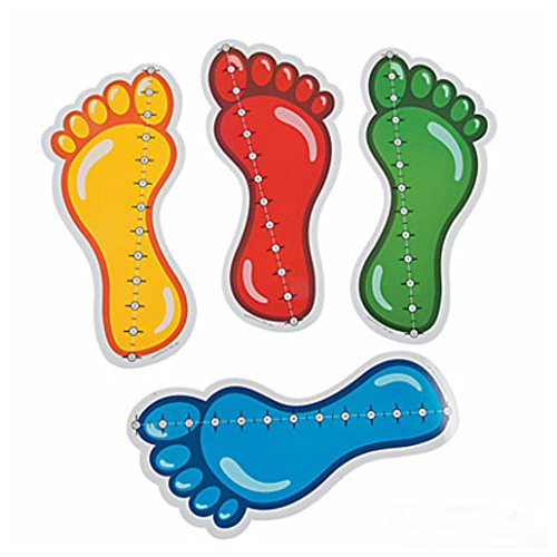 12'' Feet Measuring Floor Clings Christmas Home Room Decorations by Unbranded*