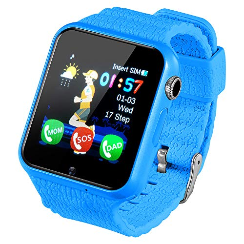 Box Retail Agp - GPS Kids Smart Watch, Support SIM/TF Dial Call and Push Message (Blue)