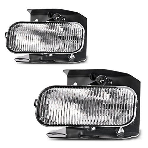 Fog Lights For Ford F150 F250 1999-2004 (XL,XLT Lariat Model Without STX ED) Ford Expedition 1999-2002 (XL, XLT Lariat Model Without STX Edition) (OE Style Clear Lens w/ H10 12V 42W Bulbs)