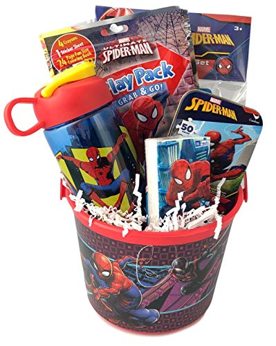 Premade Spiderman Gift Basket for Young Boys Ideas for Boys Birthday Get Well
