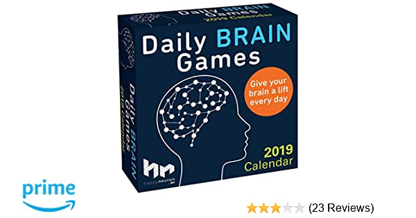 Daily Brain Games 2019 Day-to-Day Calendar: HAPPYneuron