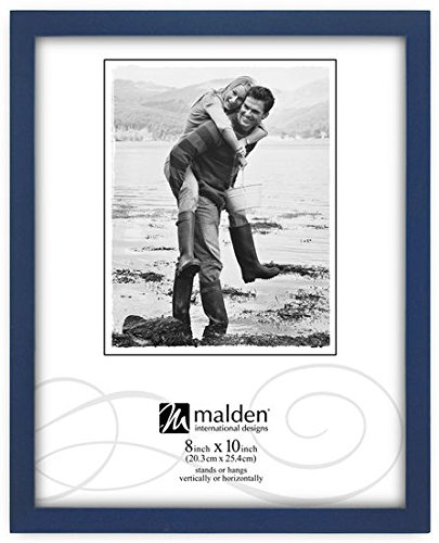 Malden International Designs 8x10 Blue Concepts Picture Frame, Set of 2
