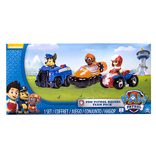 Paw Patrol Racers 3-Pack Vehicle Set, Chase, Zuma and Ryder -