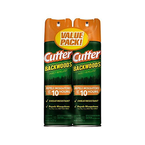Cutter Backwoods Insect Repellent, Aerosol, 2/11-Ounce