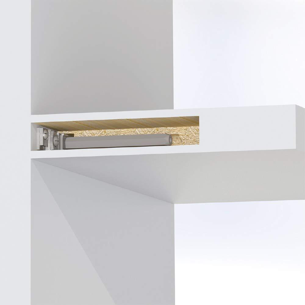 Emuca/?/Soporte de estante Invisible Phantom para madera/?/4009905/?/Emuca