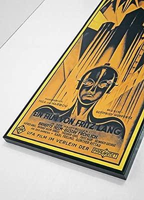 BaikalGallery Cartel Enmarcado Metropolis (1927) TAMAÑO 30x65CM- (F1171) Montado en Tablero Adhesivo rígido y Ligero Foam - Moldura de Aluminio Negro ...