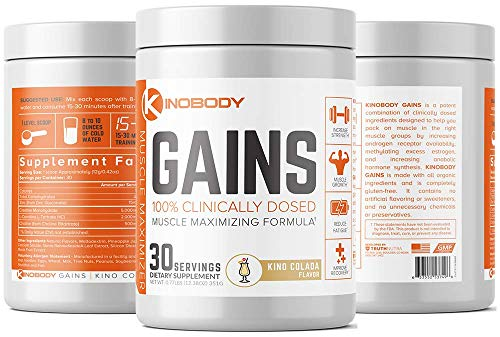 Cheap KinoBody: Kino Gains – Best Post Workout Supplement – Kino Colada Flavor – 30 Servings – Helps Pack On Muscle – Improves Strength & Performance – Reduce Fatigue – Made with All Natural Ingredients