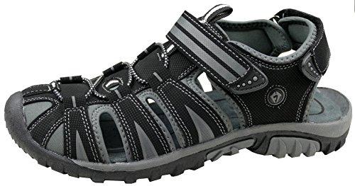 Gibra Men's Fashion Sandals Black/Grey NWnGUf0RC