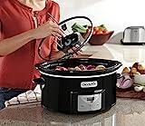 Crock-Pot 6Qt Black Oval Programmable Digital Slow Cooker w/Auto Stir System SCCPVC600AS-B