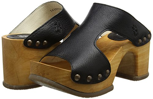 black Rhia995fly London Fly Sandals Heels Nero Donna 000 AYqTw5q
