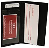Very Lightweight RFID Checkbook Wallet Black #RFID156