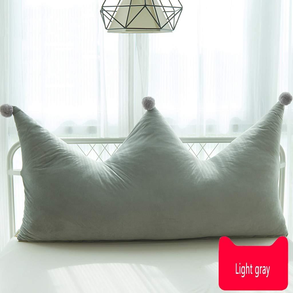 ベッドサイドクッションヨーロピアンクラウンピローBeibeiビロードダブルソファーラージバックソフトバッグ畳腰椎枕(カラー:C、サイズ:120 * 80cm) B07T8Z2R5R C 120*80cm