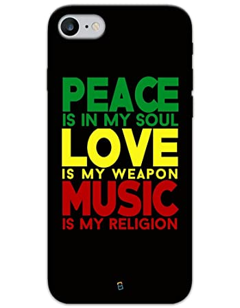 Myphonemate Peace Love Music Meaning Designer Printed Amazon In Electronics