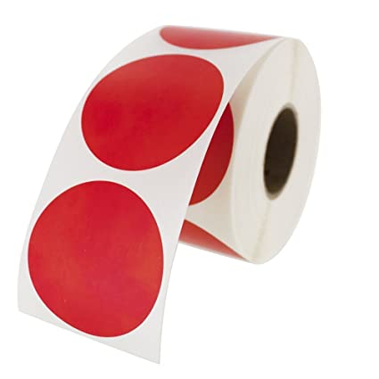 Red round color coding inventory labeling dot labels stickers 1 5 inch round labels 500