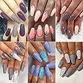 Dip Powder Nails Color Set With 10 PCS Dip Powders Nails No UV/LED Nail Lamp Needed for French Nail Manicure Nail Art