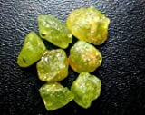 7pc Green Demantoid Garnet Lot. High Quality Gemstone Rough, Parcel For Wire Wrapping/ Jewelry.