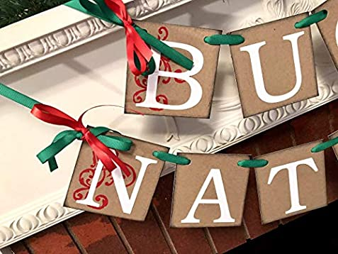 Buon Natale 4x4.Amazon Com Buon Natale Banner Red White And Green Italian