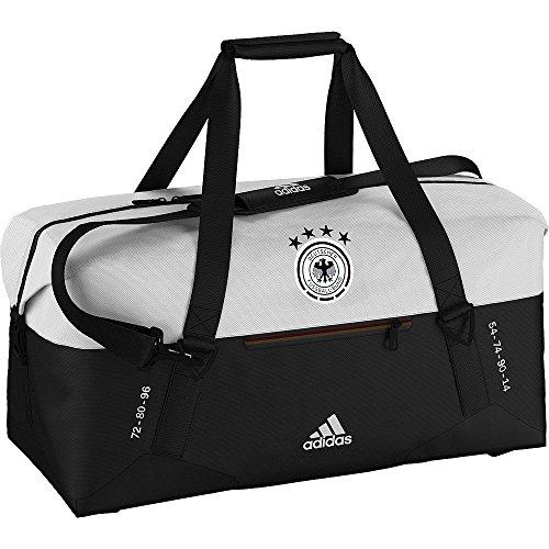 adidas DFB Teambag Away Sporttasche Deutschland EM 2016, Schwarz/Weiß, 27 x 60 x 31 cm, 50 Liter, AH5746