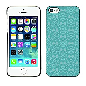 [Neutron-Star] Snap-on Series Teléfono Carcasa Funda Case Caso para iPhone 5 / 5S [Azul retro del papel pintado Viejo]