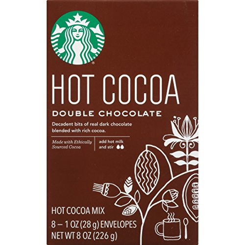 Starbucks Double Hot Chocolate Hot Cocoa Mix, 1 Ounce Packets, 8 Count, Pack of 3