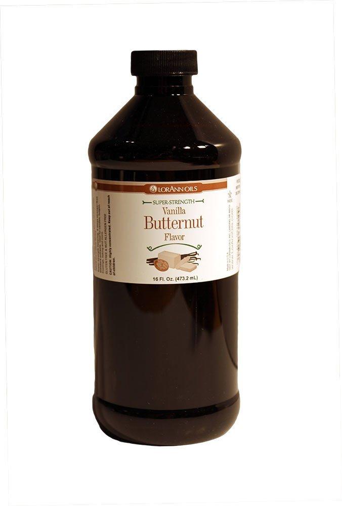 LorAnn Super Strength Vanilla Butternut Flavor, 16 Ounce