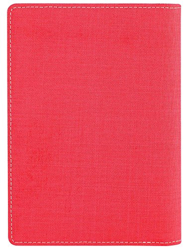 SimpacX Fabric Passport Holder Wallet Cover Case RFID Blocking Travel Wallet (holder plus tag red) by SimpacX (Image #3)