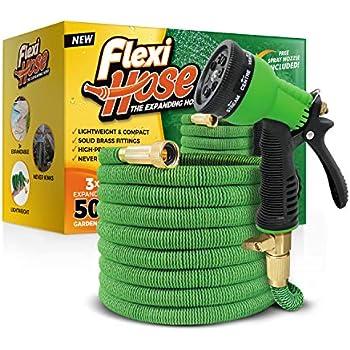 Flexi Hose Upgraded Expandable Garden Hose Extra Strength, 3/4
