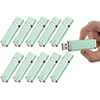 Topsell Thumb Stick 4GB USB 2.0 Flash Drive, Green, Pack of 10, Bulk Packaging (5003959)