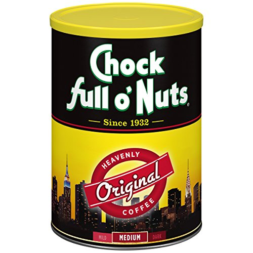 Chock Vivid O' Nuts Coffee, Regular, Amg, Can, 11.30-Ounce (Pack of 4)