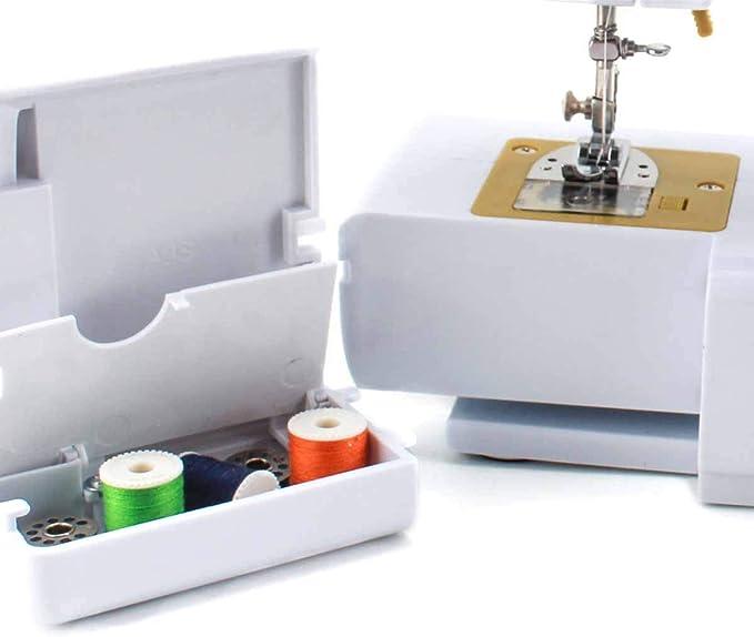 PRIXTON P120 - Maquina de Coser Portátil con Cajón para Accesorios, Lámpara Integrada y 16 Tipos de Puntadas Diferentes, Incluye Pedal: Amazon.es: Hogar