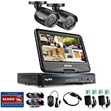 SANNCE 8CH DVR Recorder with 10'' Monitor, 1080N Surveillance Video Security System and 2PCS 1500TVL Weatherproof Outdoor Bullet Cameras Surveillance Kit, No Hard Drive, Not Wireless System
