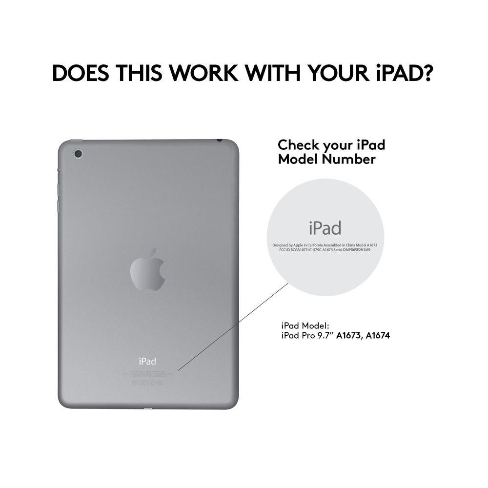compatible con iPad Pro de 9.7, primera generaci/ón, teclado ingl/és QWERTY Logitech Create Funda con teclado inal/ámbrico retroiluminado y tecnolog/ía Smart Connector color negro