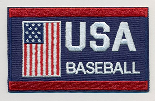 Baseball Team USA Embroidered Iron-On Patch Size 4