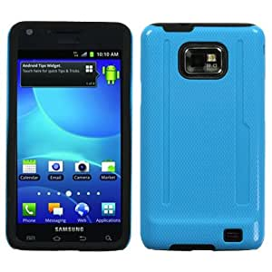 Solid Baby Blue/Black Fusion Snap-on Case Cover SAMSUNG i777(Galaxy S 2/II) AT&T ASMYNA